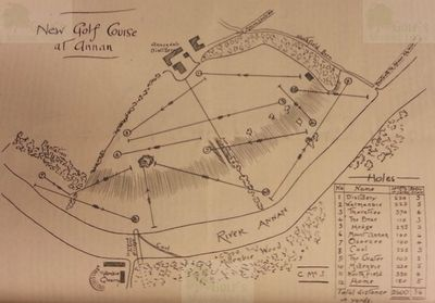 Annan Golf Club, Dumfries & Galloway. Layout of the twelve-hole course.