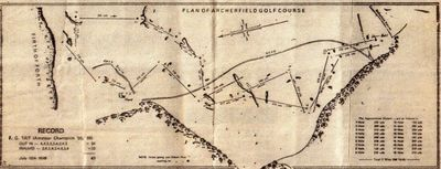 Plan of the original Archerfield Golf Club course.