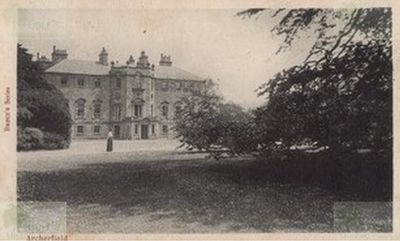 Archerfield Golf Club, East Lothian, Early postcard of Archerfield House.
