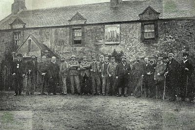 Archerfield Golf Club, East Lothian. Golfers in 1885.