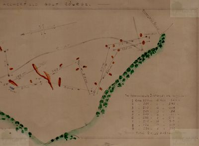 Archerfield Golf Club, East Lothian. Colour plan of the early course.