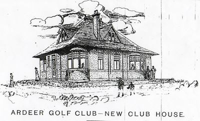 Sketch of the Ardeer Golf Clubhouse from 1905.