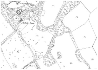 Location of the Ardoch House Golf Course on a 1901 O.S map.