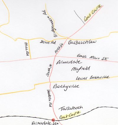 Map dated 1925 showing the location of both Armadale Golf Club courses