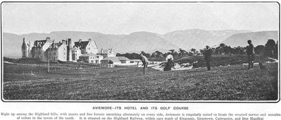 Aviemore Golf Hotel, Highland. Evidence of a golf course in July 1905.