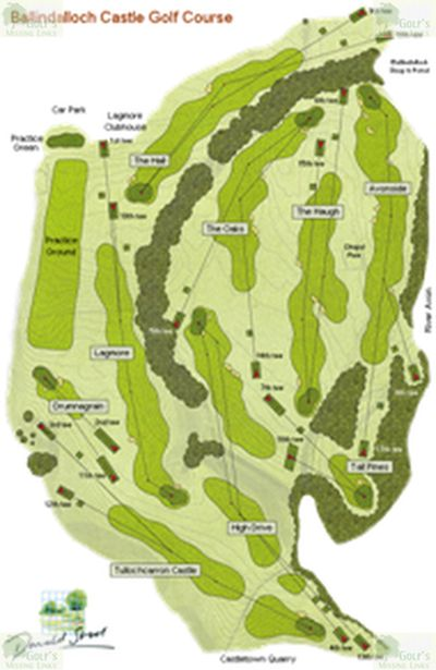 Ballindalloch Castle Golf Course, Moray. Course plan.