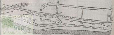 Barnhill Golf Club, Dundee. Course layout 1895.
