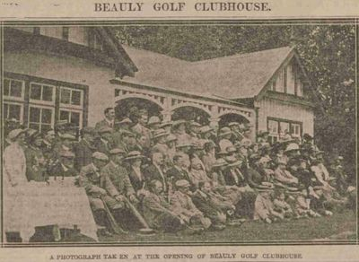 Beauly Golf Club, Highland. The opening of the Beauly clubhouse August 1913.