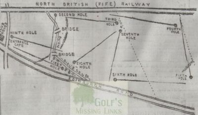 Bridge of Earn Golf Club, Perthshire. Golf course layout.