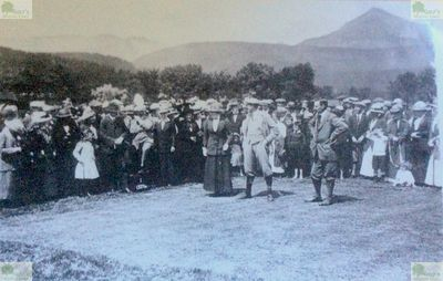 Brodick Golf Club, Arran. Picture of the opening of the first course in July 1897.
