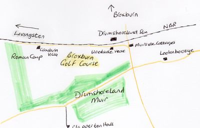 Broxburn Golf Club, Drumshoreland, West Lothian. Location of the course.