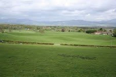 Buchlyvie Golf Club, Stirlingshire. View over the former course.