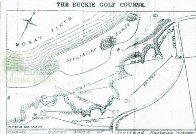 Buckie Golf Club, Moray. Course layout in 1896.
