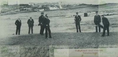 Burghead & Duffus Golf Club, Elgin, Moray.Players on the course.