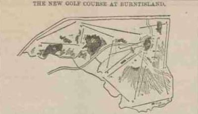 Burntisland Golf Club, Fife. The opening of the new course in May 1897.