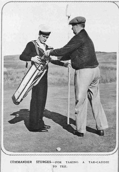 Castlecraig Golf Club, Nigg, Cromarty. Officers of the Home Fleet playing the course 1938.