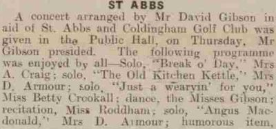Coldingham & St Abb's Golf Club, Scottish Borders. Fund raising event in aid of the golf club in July 1940.