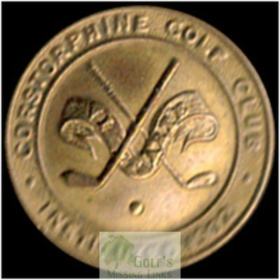 Corstorphine Golf Club, Edinburgh. Club button.