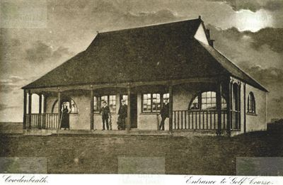 Cowdenbeath Golf Club, Fife. The early clubhouse.