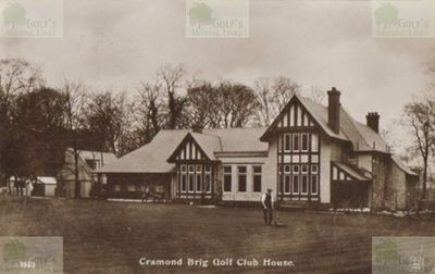 Cramond Brig Golf Club, Edinburgh. The clubhouse in its heyday.