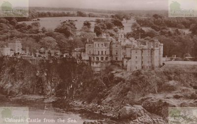 Culzean Castle Golf Course, Ayrshire. View of the castle from the sea.