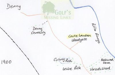 Denny Golf Club, Stirlingshire. Earlier course location.