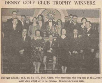 Denny Golf Club, Stirligshire. Article from the Falkirk Herald December 1931.