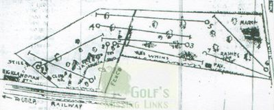 Dornock Golf Club, Perthshire. Early course layout.