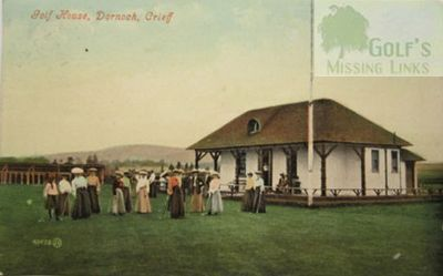 Dornock Golf Club, Perthshire. The clubhouse and members.
