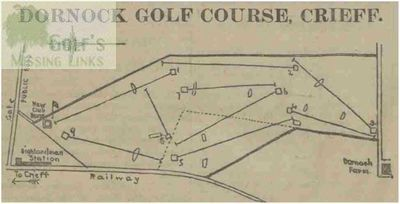 Dornock Golf Club, Perthshire. Course layout 1903.
