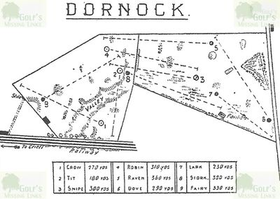 Dornock Golf Club, Perthshire. The layout of the earlier course.