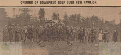 Downfield Golf Club, Baldovan, Dundee. Opening of the New Pavilion 1913.
