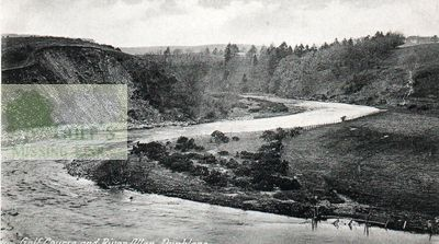 Dunblane Hydropathic Golf Club. The golf course and River Allan.
