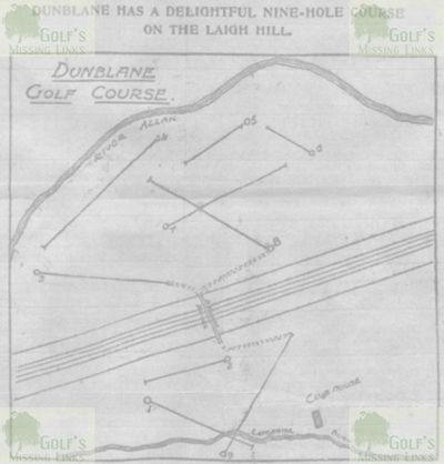 Dunblane Hydropathic Golf Club. Layout of the Old Tom Morris designed course.
