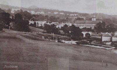 Dunblane Golf Club, Stirlingshire. Edwardian postcard of the Dunblane course.