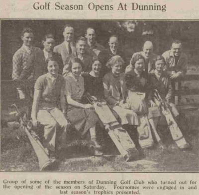 Dunning Golf Club, Perthshire. The opening of the season in May 1939.