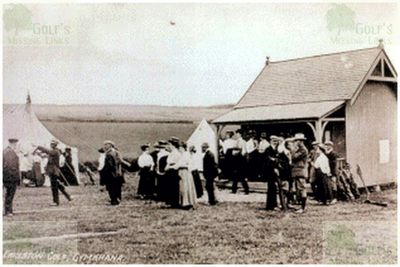 Earlston Golf Club, Borders. A meeting in 1908.