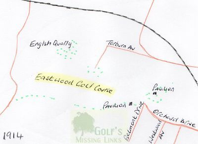 Eastwood Golf Club, Glasgow. Location of the former course..