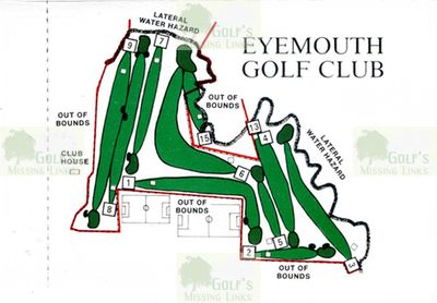 Eyemouth Golf Club, Borders. Ten-hole course layout.