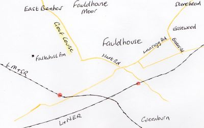 Fauldhouse Golf Club, Falla Hill. Location of the early golf course.