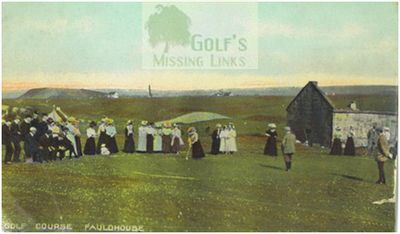 Fauldhouse Golf Club, Falla Hill. Early postcard of the golf course.