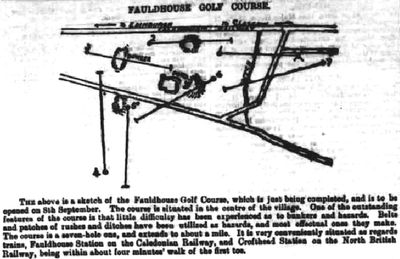 Fauldhouse Golf Club, West Lothian. Report and plan of the seven hole course September 1894.