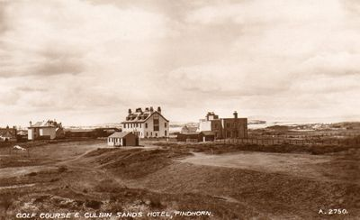 Findhorn Golf Club, Moray. A Valentine's A2750 postcard of Findhorn golf course.