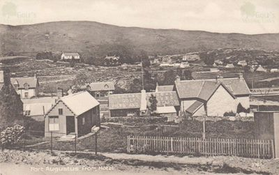 Fort Augustus Golf Club, Highland. Postcard of Fort Augustus from the hotel.
