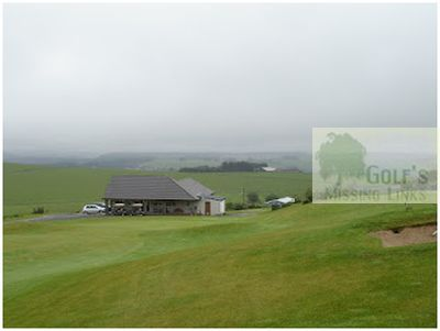 Fyvie Golf Club, Turriff. View of the former course and clubhouse.