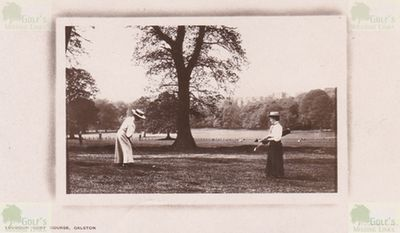 Galston Golf Club, East Ayrshire. Early picture of lady golfers on the Loudoun Gowf Course.