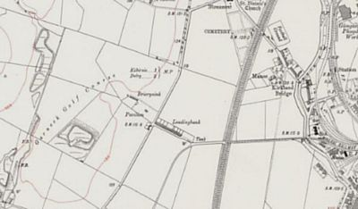 Garnock Golf Club, Kilburnie, Pre-WW1 Ordnance Survey Map showing the pavilion and golf course.