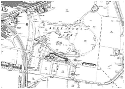 Glasgow Golf Club. The golf course in Alexandra Park on the 1894 O.S map.