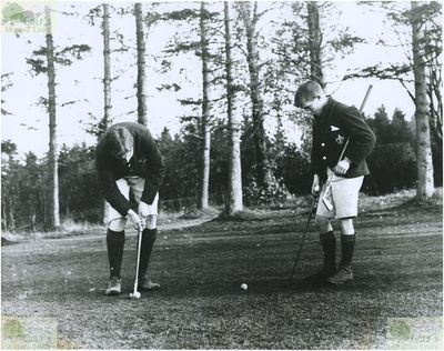 Glenalmond College Golf Course, Perth & Kinross. On the golf course in 1903.