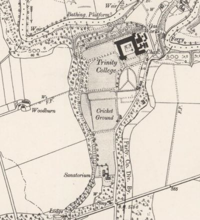 Glenalmond College Golf Course, Perth & Kinross. The 1893 O.S Map showing Trinity College.